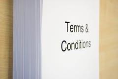 Ausdrücke u. Bedingungen Stockbilder