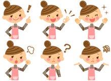 Ausdruck der Hausfrau Lizenzfreie Stockfotos