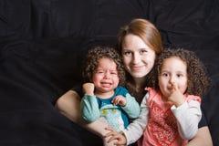 Ausdruck der Mutterschaft Stockbilder