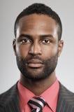 Ausdruck des Afroamerikaner-Mann-freien Raumes Stockfoto