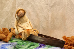 Ausdrucksvolle handgemachte Puppe Stockfotografie