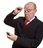 Ausdrucksvoller älterer Geschäftsmann Lizenzfreie Stockfotos