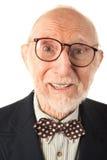 Ausdrucksvoller älterer Mann stockfotografie