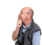 Ausdrucksvoller alter Mann Lizenzfreie Stockfotos