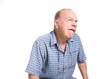 Ausdrucksvoller alter Mann stockfotos