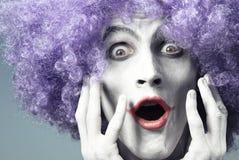 Ausdrucksvoller Clown Stockbilder