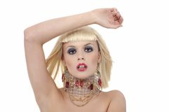 Ausdrucksvolles blondes Mädchen Lizenzfreies Stockfoto