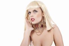 Ausdrucksvolles blondes Mädchen Lizenzfreies Stockbild