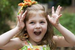 Ausdrucksvolles kleines Mädchen Stockbilder