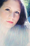 Ausdrucksvolles Portrait eines jungen Mädchens Stockbilder