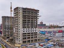 Auseinander otel Präsident uralskaya 75 im Bau Ein neues Wohngebäude auf monolithischer Rahmentechnologie im Bereich mit stockbilder