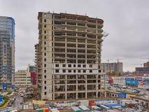 Auseinander otel Präsident uralskaya 75 im Bau Ein neues Wohngebäude auf monolithischer Rahmentechnologie im Bereich mit stockfotografie