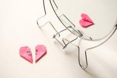 Auseinanderbrechen, Scheidung, ausfallen Verhältnis-Konzept lizenzfreies stockbild