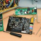 Auseinandergebauter Computer stockfoto