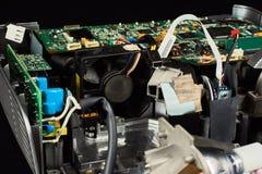 Auseinandergebauter DLP-Projektor stockbilder