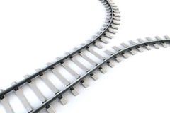 Auseinanderlaufendes Gleis Stockbilder