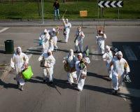 Ausführende, die an Milan Clown Festival 2014 teilnehmen Lizenzfreies Stockfoto