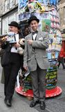 Ausführende an Edinburgh-Fransen-Festival 2014 Stockfotos
