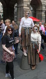 Ausführende an Edinburgh-Fransen-Festival 2015 Lizenzfreie Stockfotos
