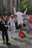 Ausführende an Edinburgh-Fransen-Festival 2015 Lizenzfreies Stockfoto