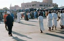 Ausführende, Marrakesch. Marokko. Lizenzfreie Stockfotos