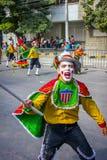 Ausführende mit den bunten und durchdachten Kostümen nehmen an C teil Lizenzfreie Stockfotografie