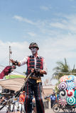 Ausführender Benjamin Gadbois mit dem Dragon Knights-steampunk WTI Stockbilder