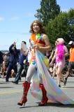 Ausführender an der Vancouver-Stolz-Parade Lizenzfreie Stockbilder