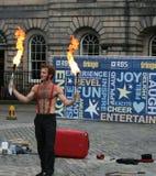 Ausführender am Edinburgh-Festival lizenzfreie stockfotografie