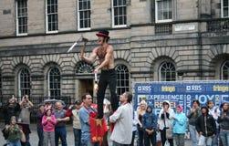 Ausführender am Edinburgh-Festival lizenzfreie stockfotos