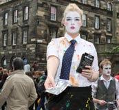 Ausführender am Edinburgh-Franse-Festival Lizenzfreies Stockbild