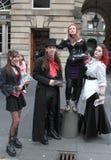 Ausführender an Edinburgh-Fransen-Festival 2015 Lizenzfreie Stockfotografie