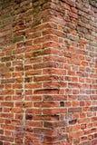 Ausführliche alte Wand des roten Backsteins Lizenzfreie Stockfotos