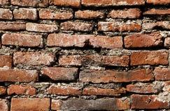 Ausführliche Ansicht der Backsteinmauer Lizenzfreies Stockfoto