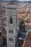 Ausführliche Ansicht des Florenz-Glockenturms Stockbild