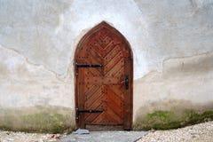 Ausführliche Ansicht einer mittelalterlichen Tür Stockfotografie