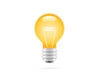 Ausführliche elektrische Lampen-Ikone Lizenzfreies Stockbild