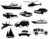 Ausführliche Fahrzeuge eingestellt Lizenzfreie Stockfotos