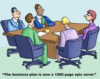 Ausführliche Geschäfts-Karikatur-Serie Stockfotografie