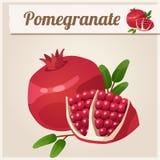 Ausführliche Ikone Granatapfel Lizenzfreie Stockfotografie
