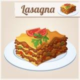 Ausführliche Ikone lasagne Stockfotos