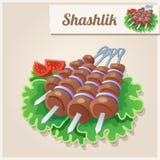 Ausführliche Ikone Shashlik Lizenzfreie Stockfotos