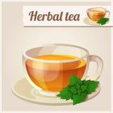 Ausführliche Ikone Tadelloser Tee Stockbild