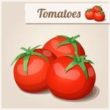 Ausführliche Ikone Tomaten Lizenzfreie Stockbilder