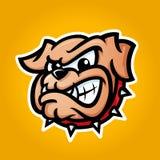 Ausführliche Illustration des Bulldoggenkopfes Lizenzfreie Stockbilder