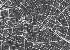 Ausführliche Karte Berlin des Vektors stock abbildung