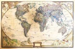 Ausführliche Karte der Welt lizenzfreies stockbild