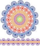 Ausführliche Mandala-Auslegung Stockbilder