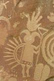 Ausführliche Petroglyphe Lizenzfreie Stockfotografie