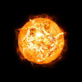Ausführliche Sonne im Raum Lizenzfreies Stockbild